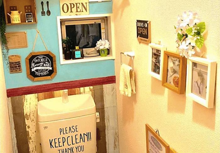 素敵にトイレをDIY!お洒落アイデアとタンクレストイレの作り方