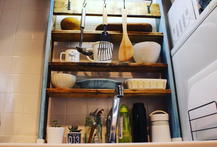賃貸でもできる!DIYで便利でおしゃれなキッチンに。