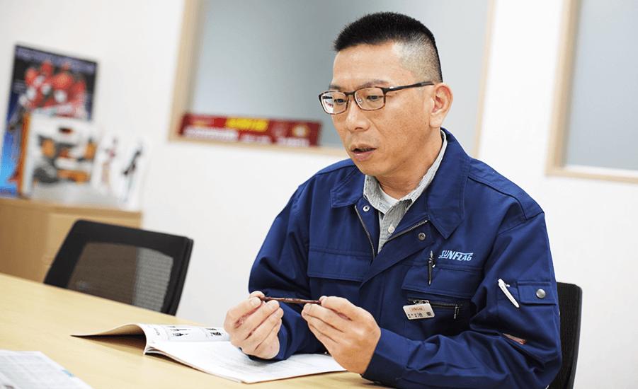 株式会社新亀製作所 開発部 部長の池東 伸晃さん