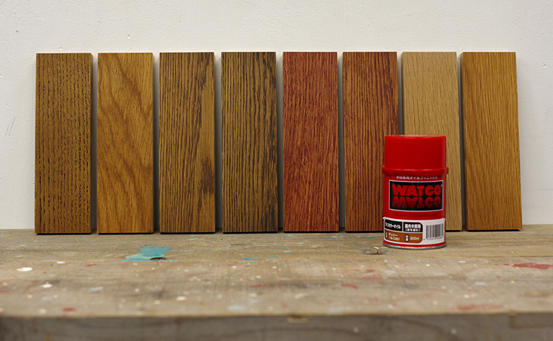 ワトコオイル全色の分かりやすい色見本と、最高におすすめの塗装手順!