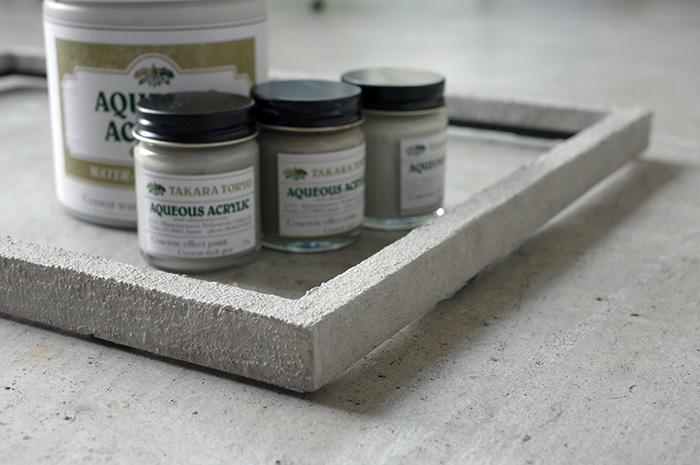 ブロック塀コンクリート風塗料の塗り方/額縁のリメイク