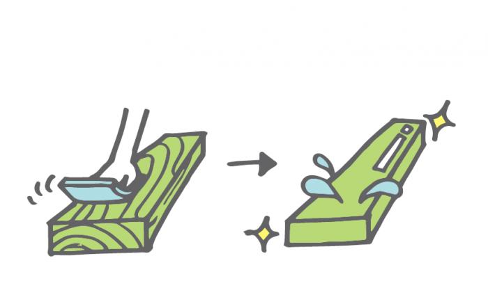 ワックスの塗装方法