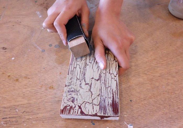 クラッキング塗装の基本と、失敗した時の修正方法