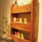 木材で作る?キッチン収納スパイスラックの作り方!